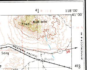 Reduced fragment of topographic map en--usgs--250k--075006--(1955)--N041-00_W120-00--N040-00_W118-00 in area of Rye Patch Reservoir; towns and cities Lovelock