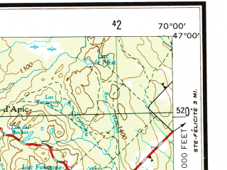 Download topographic map in area of Quebec Charlesbourg