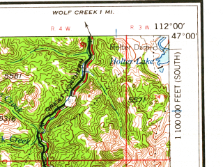 Reduced fragment of topographic map en--usgs--250k--075030--(1962)--N047-00_W114-00--N046-00_W112-00 in area of Poorman Creek, Georgetown Lake, East Fork Reservoir; towns and cities Helena, Anaconda, Helena Valley West Central, Bonner-west Riverside, Boulder