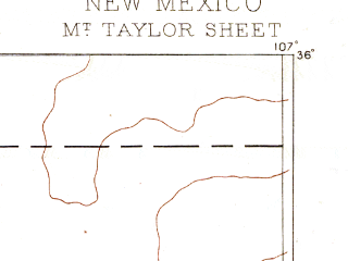 Reduced fragment of topographic map en--usgs--250k--321171--(1886)--N036-00_W108-00--N035-00_W107-00; towns and cities Grants, Mesita, Skyline-ganipa, Milan