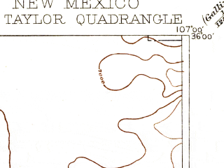 Reduced fragment of topographic map en--usgs--250k--321171--(1899)--N036-00_W108-00--N035-00_W107-00; towns and cities Grants, Laguna, Seama, Mesita