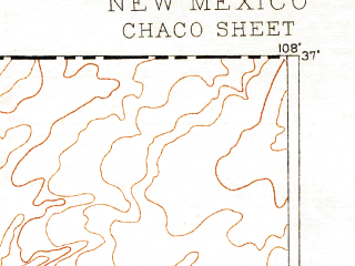 Reduced fragment of topographic map en--usgs--250k--322228--(1892)--N037-00_W109-00--N036-00_W108-00 in area of Chaco, Morgan Lake; towns and cities Farmington, Shiprock, Sanostee, Flora Vista, Kirtland