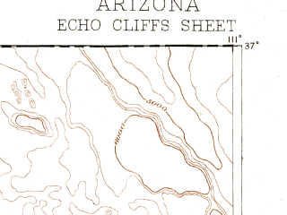 Reduced fragment of topographic map en--usgs--250k--322231--(1886)--N037-00_W112-00--N036-00_W111-00 in area of Moenkopi Wash; towns and cities Tuba City, Page, Kaibito, Moenkopi