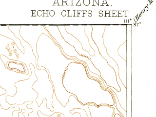 Reduced fragment of topographic map en--usgs--250k--322231--(1891)--N037-00_W112-00--N036-00_W111-00 in area of Moenkopi Wash; towns and cities Tuba City, Kaibito, Moenkopi, Page