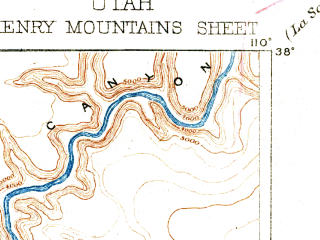 Reduced fragment of topographic map en--usgs--250k--322242--(1892)--N038-00_W111-00--N037-00_W110-00
