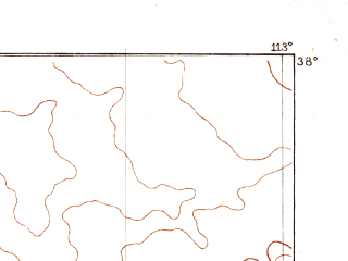 Reduced fragment of topographic map en--usgs--250k--322245--(1885)--N038-00_W114-00--N037-00_W113-00 in area of Virgin; towns and cities St. George, Cedar City, Rockville, Santa Clara, Ivins