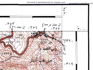 Reduced fragment of topographic map he--rjgc--050k--29-35-n--(1993)--N030-00_E035-15--N029-45_E035-30; towns and cities El Quweira, En Naab