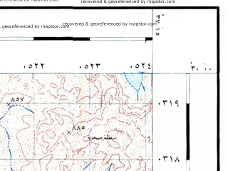 Reduced fragment of topographic map he--rjgc--050k--29-37-m--(1993)--N030-00_E037-00--N029-45_E037-15