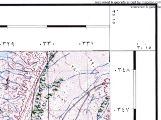Reduced fragment of topographic map he--rjgc--050k--30-35-a--(1993)--N030-15_E035-00--N030-00_E035-15