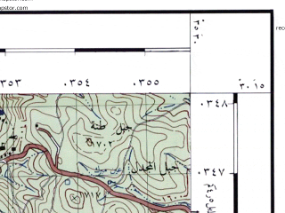 Reduced fragment of topographic map he--rjgc--050k--30-35-b--(1993)--N030-15_E035-15--N030-00_E035-30