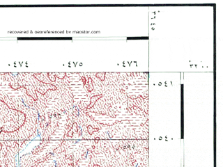 Reduced fragment of topographic map he--rjgc--050k--31-36-o--(1993)--N032-00_E036-30--N031-45_E036-45