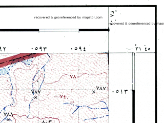 Reduced fragment of topographic map he--rjgc--050k--31-37-l--(1993)--N031-45_E037-45--N031-30_E038-00