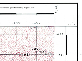 Reduced fragment of topographic map he--rjgc--050k--31-37-o--(1993)--N032-00_E037-30--N031-45_E037-45