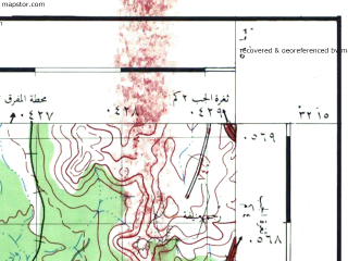 Reduced fragment of topographic map he--rjgc--050k--32-36-a--(1993)--N032-15_E036-00--N032-00_E036-15