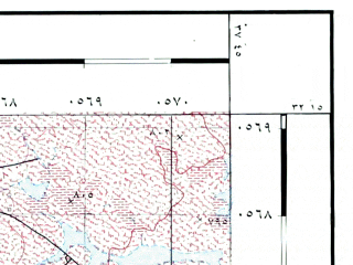 Reduced fragment of topographic map he--rjgc--050k--32-37-c--(1993)--N032-15_E037-30--N032-00_E037-45