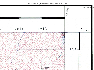 Reduced fragment of topographic map he--rjgc--050k--32-37-f--(1993)--N032-30_E037-15--N032-15_E037-30