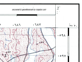Reduced fragment of topographic map he--rjgc--050k--32-38-h--(1993)--N032-30_E038-45--N032-15_E039-00