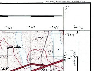 Reduced fragment of topographic map he--rjgc--050k--32-38-l--(1993)--N032-45_E038-45--N032-30_E039-00