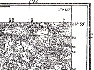 Reduced fragment of topographic map pl--wig--025k--P29S40-G--(1935)--N054-50_E024-50--N054-45_E025-00