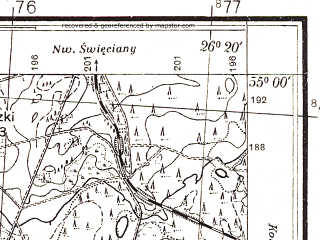Reduced fragment of topographic map pl--wig--025k--P29S42-C--(1932)--N055-00_E026-10--N054-55_E026-20