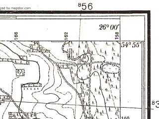Reduced fragment of topographic map pl--wig--025k--P29S42-D--(1932)--N054-55_E025-50--N054-50_E026-00