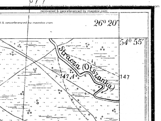 Reduced fragment of topographic map pl--wig--025k--P29S42-F--(1932)--N054-55_E026-10--N054-50_E026-20