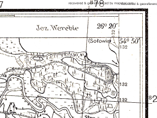 Reduced fragment of topographic map pl--wig--025k--P29S42-I--(1932)--N054-50_E026-10--N054-45_E026-20