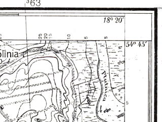 Reduced fragment of topographic map pl--wig--025k--P30S26-C--(1937)--N054-45_E018-10--N054-40_E018-20