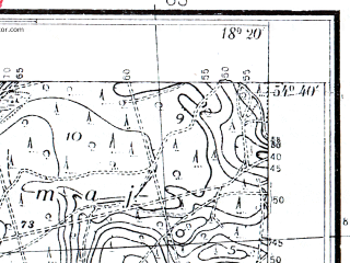 Reduced fragment of topographic map pl--wig--025k--P30S26-F--(1937)--N054-40_E018-10--N054-35_E018-20; towns and cities Wejherowo