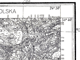 Reduced fragment of topographic map pl--wig--025k--P30S39-F--(1934)--N054-40_E024-40--N054-35_E024-50