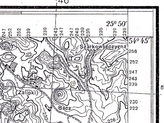 Reduced fragment of topographic map pl--wig--025k--P30S41-C--(1932)--N054-45_E025-40--N054-40_E025-50