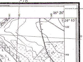 Reduced fragment of topographic map pl--wig--025k--P30S42-C--(1932)--N054-45_E026-10--N054-40_E026-20