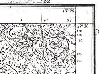 Reduced fragment of topographic map pl--wig--025k--P31S26-C--(1937)--N054-30_E018-10--N054-25_E018-20