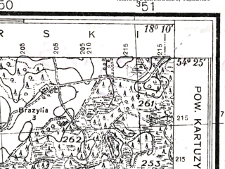 Reduced fragment of topographic map pl--wig--025k--P31S26-E--(1937)--N054-25_E018-00--N054-20_E018-10