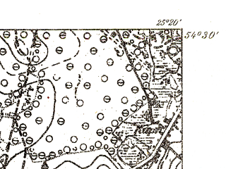 Reduced fragment of topographic map pl--wig--025k--P31S40-C--(1931)--N054-30_E025-10--N054-25_E025-20