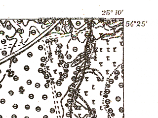 Reduced fragment of topographic map pl--wig--025k--P31S40-E--(1931)--N054-25_E025-00--N054-20_E025-10