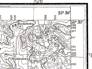 Reduced fragment of topographic map pl--wig--025k--P31S41-A--(1932)--N054-30_E025-20--N054-25_E025-30