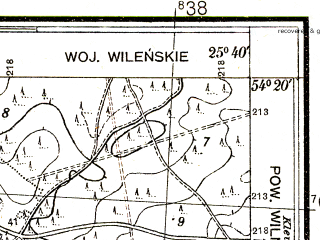 Reduced fragment of topographic map pl--wig--025k--P31S41-H--(1932)--N054-20_E025-30--N054-15_E025-40