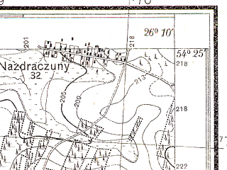 Reduced fragment of topographic map pl--wig--025k--P31S42-E--(1932)--N054-25_E026-00--N054-20_E026-10