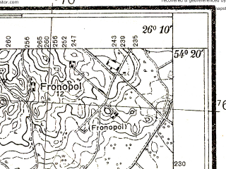 Reduced fragment of topographic map pl--wig--025k--P31S42-H--(1932)--N054-20_E026-00--N054-15_E026-10