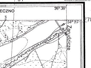 Reduced fragment of topographic map pl--wig--025k--P31S43-D--(1934)--N054-25_E026-20--N054-20_E026-30