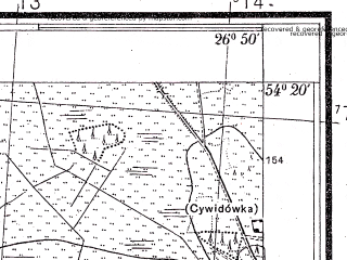 Reduced fragment of topographic map pl--wig--025k--P31S43-I--(1934)--N054-20_E026-40--N054-15_E026-50