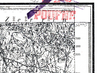 Reduced fragment of topographic map pl--wig--025k--P32S25-G--(1935)--N054-05_E017-20--N054-00_E017-30