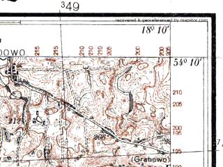 Reduced fragment of topographic map pl--wig--025k--P32S26-E--(1937)--N054-10_E018-00--N054-05_E018-10