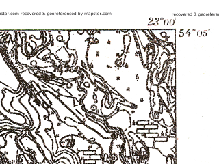 Reduced fragment of topographic map pl--wig--025k--P32S36-G--(1931)--N054-05_E022-50--N054-00_E023-00
