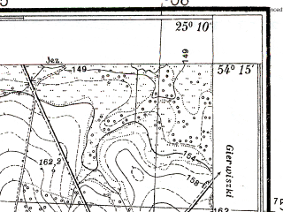 Reduced fragment of topographic map pl--wig--025k--P32S40-B--(1938)--N054-15_E025-00--N054-10_E025-10; towns and cities Eyshishkes