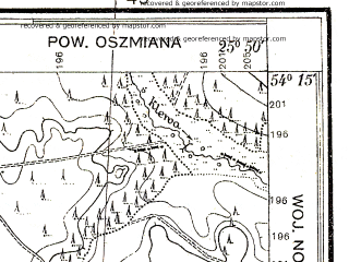 Reduced fragment of topographic map pl--wig--025k--P32S41-C--(1932)--N054-15_E025-40--N054-10_E025-50