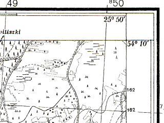 Reduced fragment of topographic map pl--wig--025k--P32S41-F--(1938)--N054-10_E025-40--N054-05_E025-50