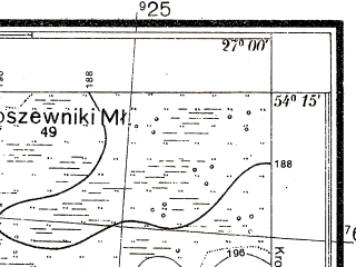 Reduced fragment of topographic map pl--wig--025k--P32S44-A--(1934)--N054-15_E026-50--N054-10_E027-00
