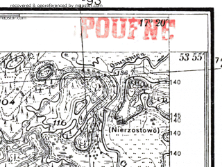 Reduced fragment of topographic map pl--wig--025k--P33S24-F--(1937)--N053-55_E017-10--N053-50_E017-20